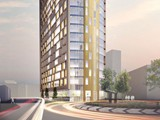 CGI of Left Bank Apartments, Birmingham